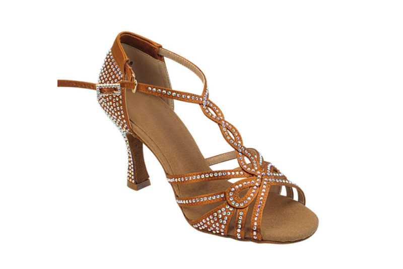 Zapato de baile -DAMA SHOES -Espinela Copper Tan Satin