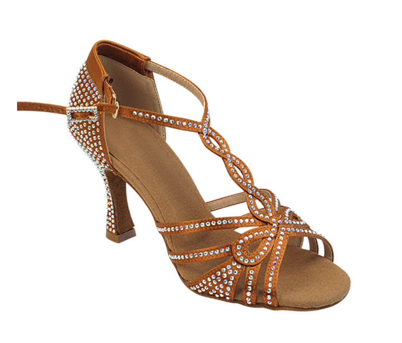 Zapato de baile -DAMA SHOES -Espinela Copper Tan Satin