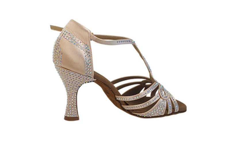 Zapato de baile -DAMA SHOES -Espinela Flesh Satin