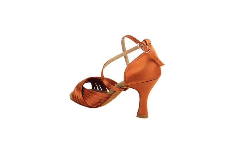 Zapato de baile - DAMA SHOES- Gany Dark Tan Satin