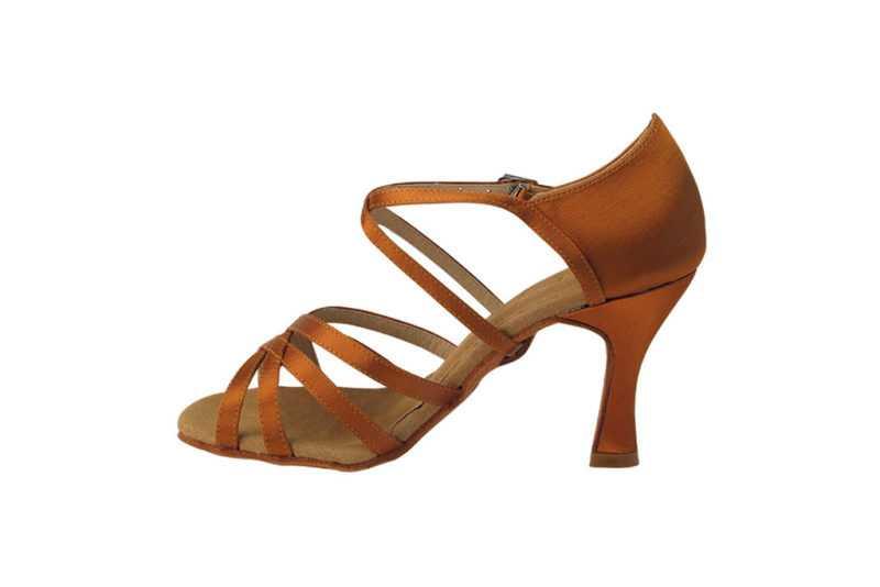 Zapato de baile-DAMA SHOES- Isis Copper Tan Satin