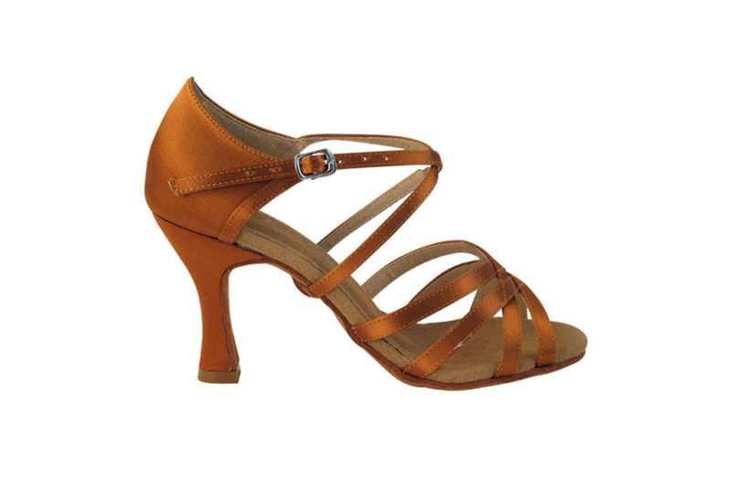 Zapato de baile-DAMA SHOES - Isis Copper Tan Satin