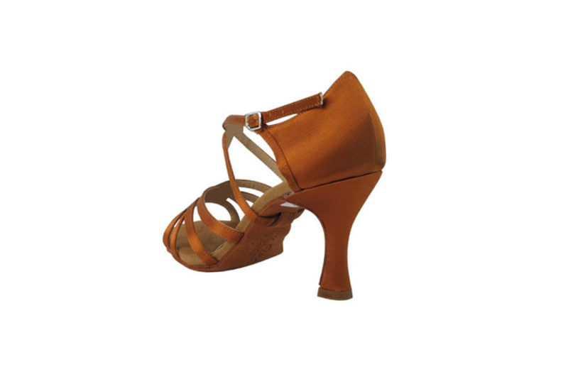 Zapato de baile-DAMA SHOES-Isis Copper Tan Satin