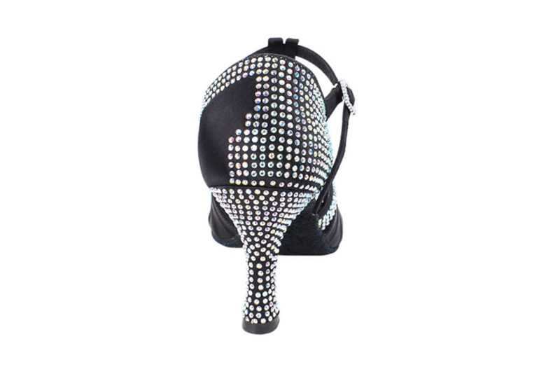 Zapato de baile- DAMA SHOES- Malaquita Black Satin