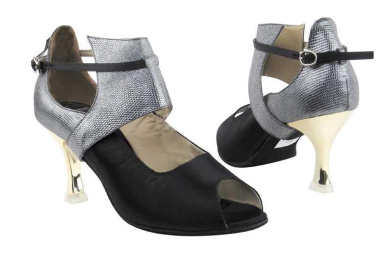 Zapato de baile- DAMA SHOES- Mel Black Satin