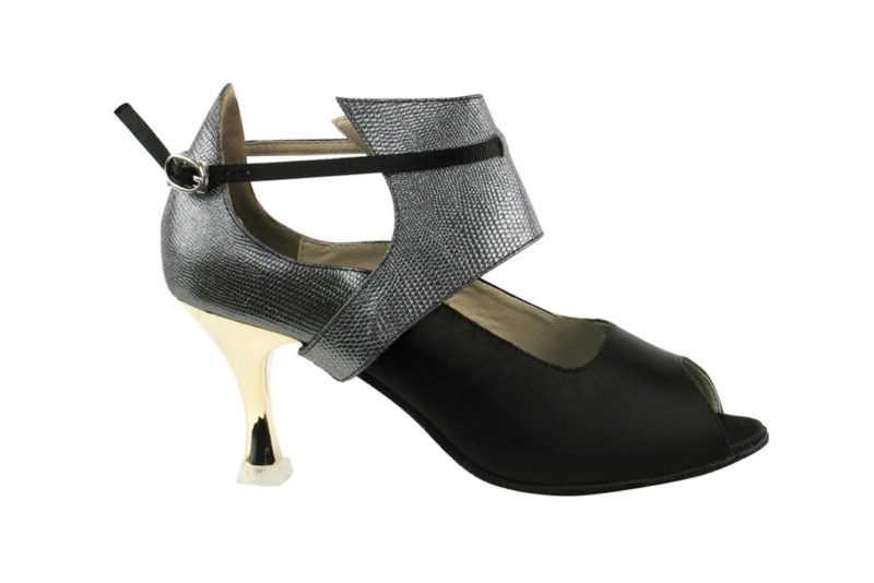 Zapato de baile-DAMA SHOES - Mel Black Satin