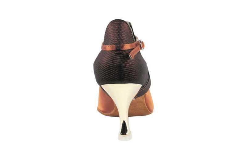 Zapato de baile- DAMA SHOES- Mel Dark Tan Satin