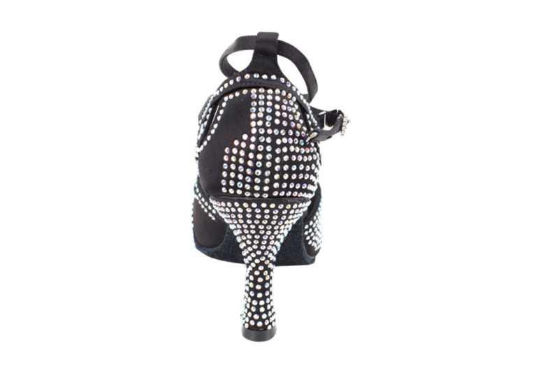 Zapato de baile- DAMA SHOES- Opalo Black Satin