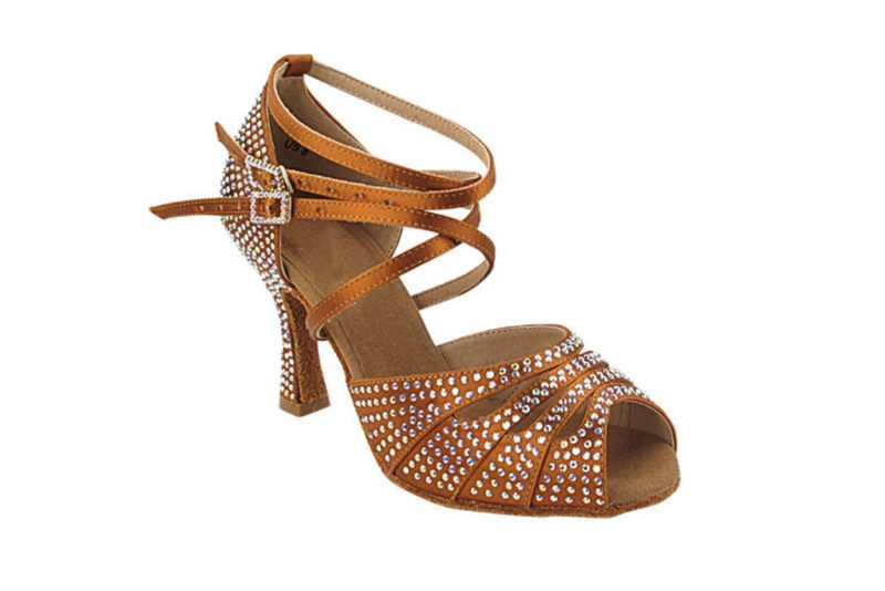 Zapato de baile- DAMA SHOES- Opalo Copper Tan Satin