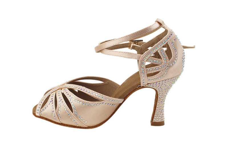 Zapato de baile -DAMA SHOES - Opalo Flesh Satin