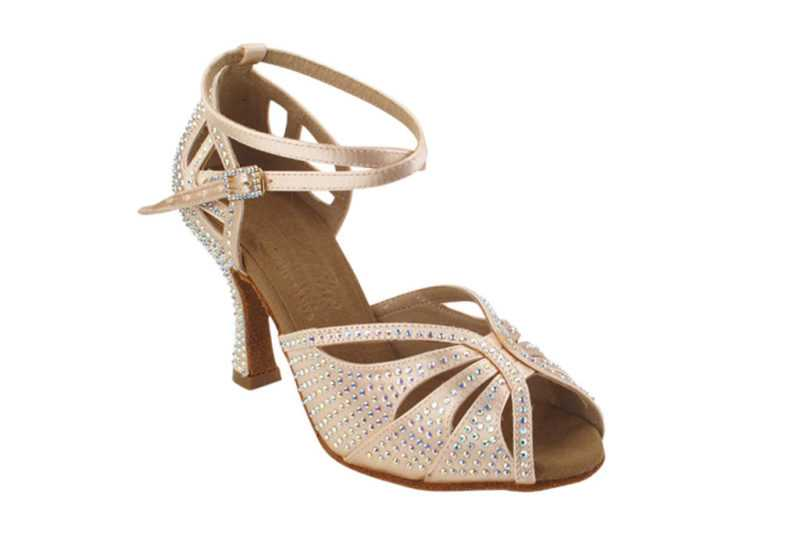 Zapato de baile -DAMA SHOES- Opalo Flesh Satin