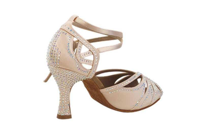Zapato de baile- DAMA SHOES- Opalo Flesh Satin