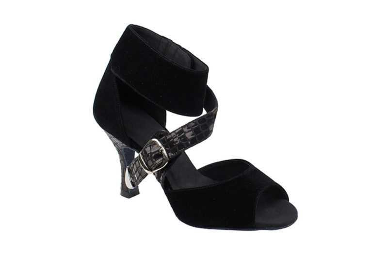 Zapato de baile - DAMA SHOES - Oxford Black Velvet