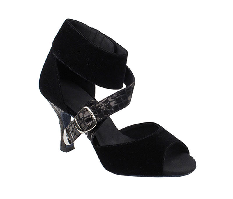 Zapato de baile - DAMA SHOES - Oxford Black Velvet