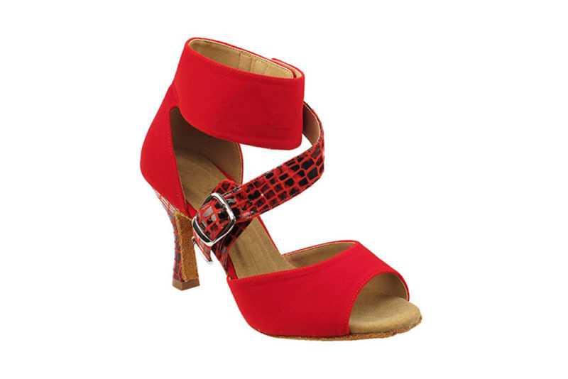 Zapato de baile - DAMA SHOES - Oxford Red Velvet