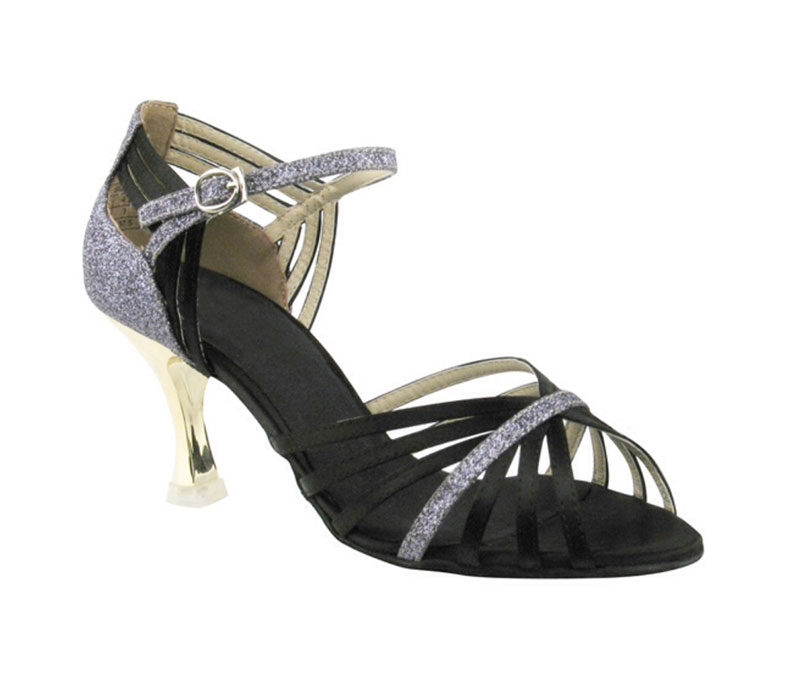 Zapato de baile-DAMA SHOES- Piper Black Satin
