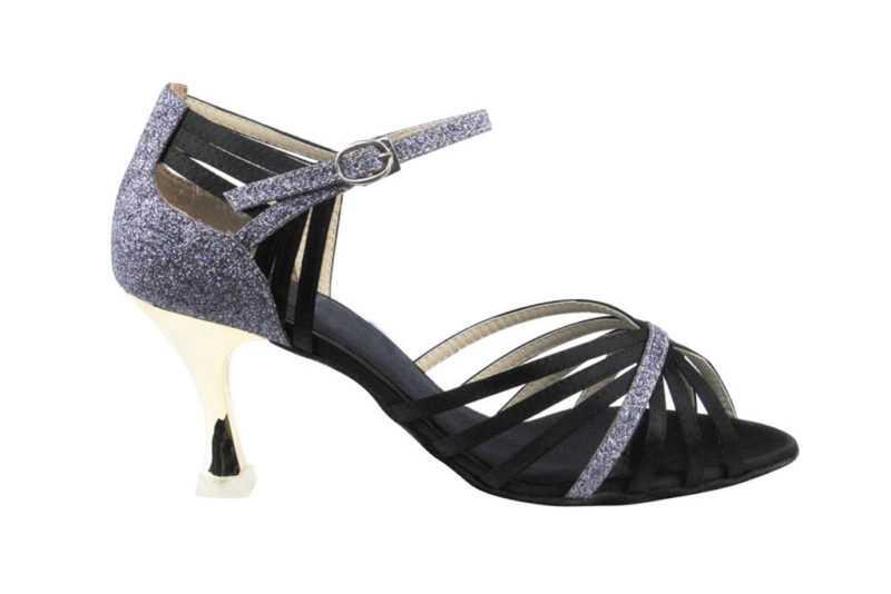 Zapato de baile-DAMA SHOES- Piper Black Satin