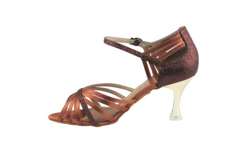 Zapato de baile- DAMA SHOES- Piper Dark Tan Satin