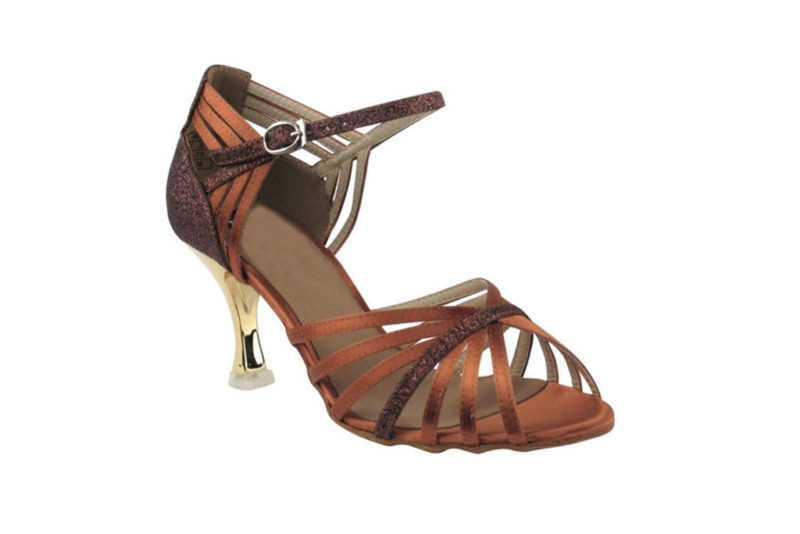 Zapato de baile - DAMA SHOES- Piper Dark Tan Satin