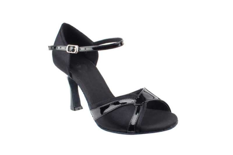 Zapato de baile- DAMA SHOES- Scarlet Black Satin & Black