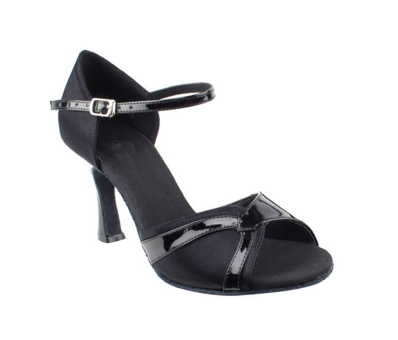 Zapato de baile- DAMA SHOES- Scarlet Black Satin & Black