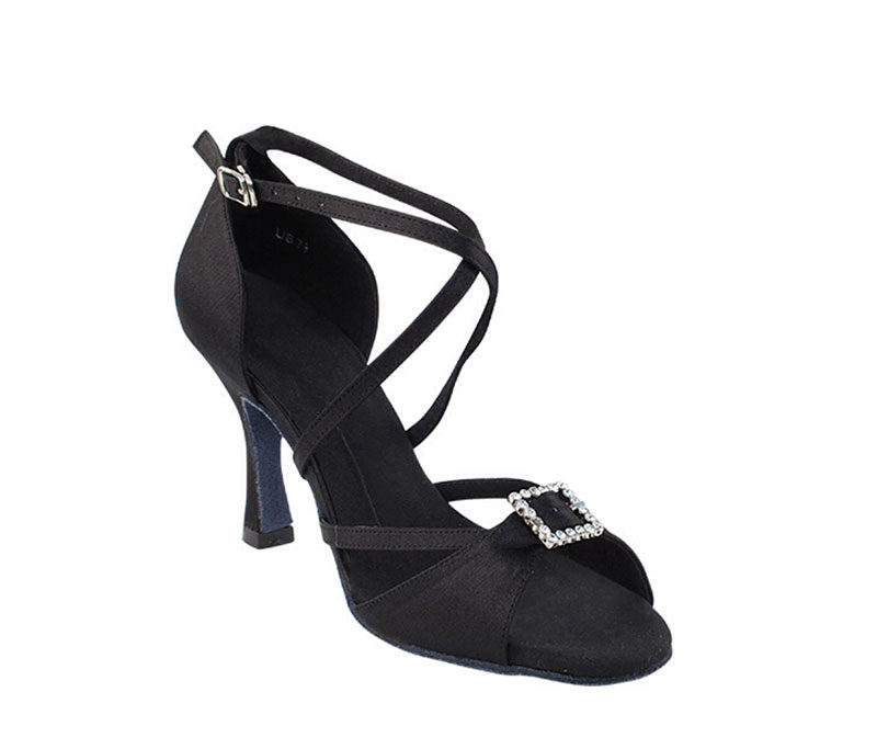 Zapato de baile-DAMA SHOES- Selene Black Satin