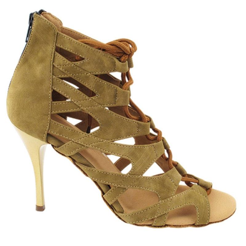 Zapato de baile -DAMA SHOES-Indiana Beige Suede