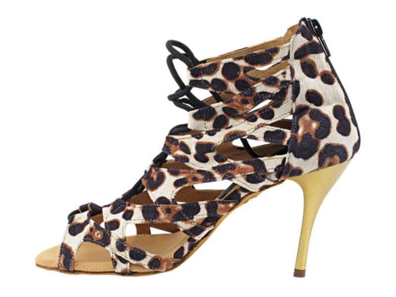 Zapato de baile -DAMA SHOES-Indiana Cheetah Velvet
