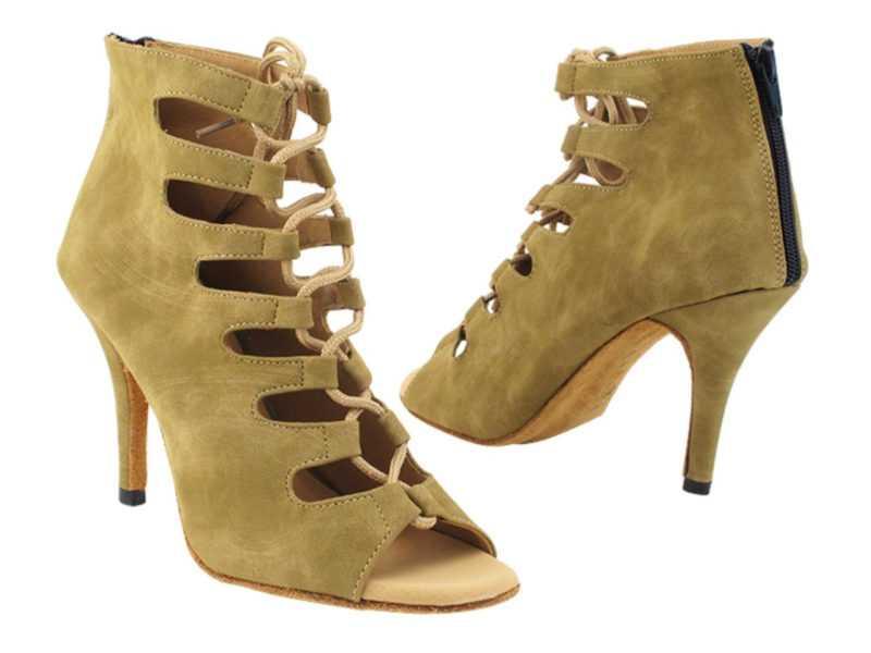 Zapato de baile -DAMA SHOES-Maryland Beige Nubuck