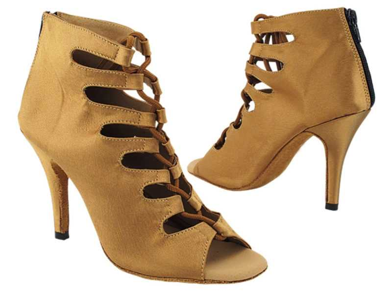 Zapato de baile -DAMA SHOES-Maryland Beige Satin