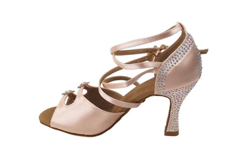 Zapato de baile -DAMA SHOES- Turmalina Flesh Satin