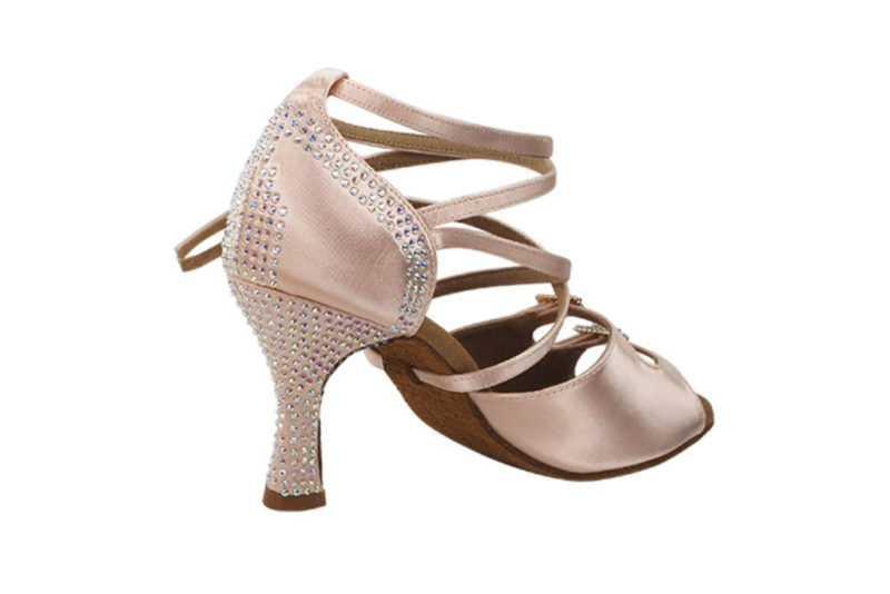 Zapato de baile- DAMA SHOES- Turmalina Flesh Satin