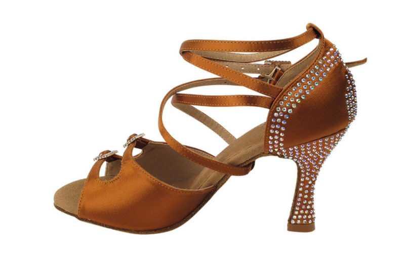 Zapato de baile -DAMA SHOES- Turmalina Cooper Tan Satin