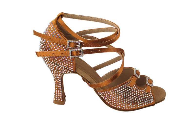 Zapato de baile- DAMA SHOES- Turmalina Cooper Tan Satin