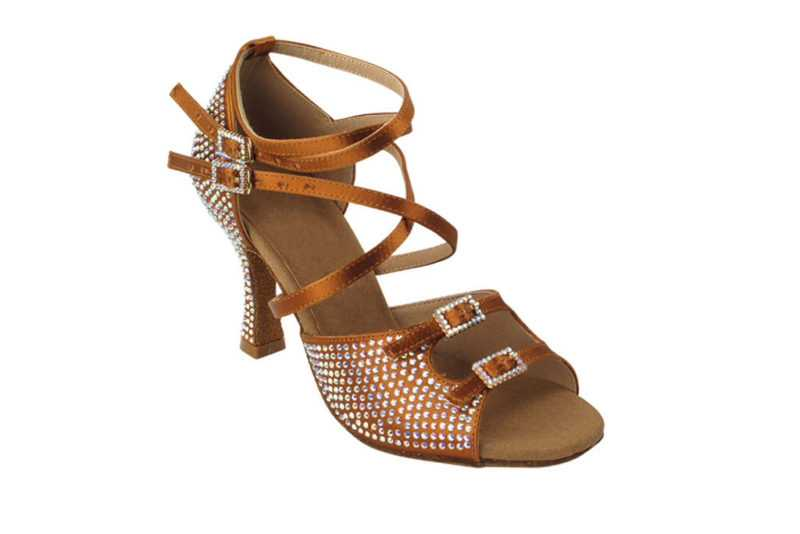 Zapato de baile- DAMA SHOES - Turmalina Cooper Tan Satin