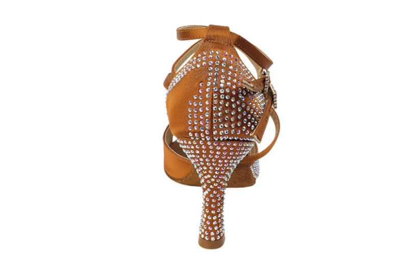 Zapato de baile -DAMA SHOES - Turmalina Cooper Tan Satin