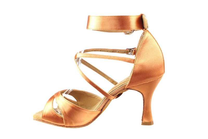 Zapato de baile - DAMA SHOES - Wellington Tan Satin
