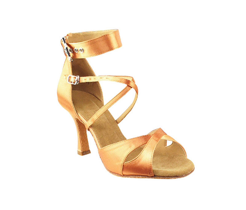 Zapato de baile - DAMA SHOES - Wellington Tan Satin