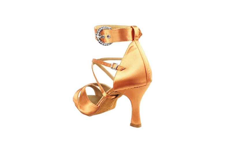 Zapato de baile -DAMA SHOES - Wellington Tan Satin