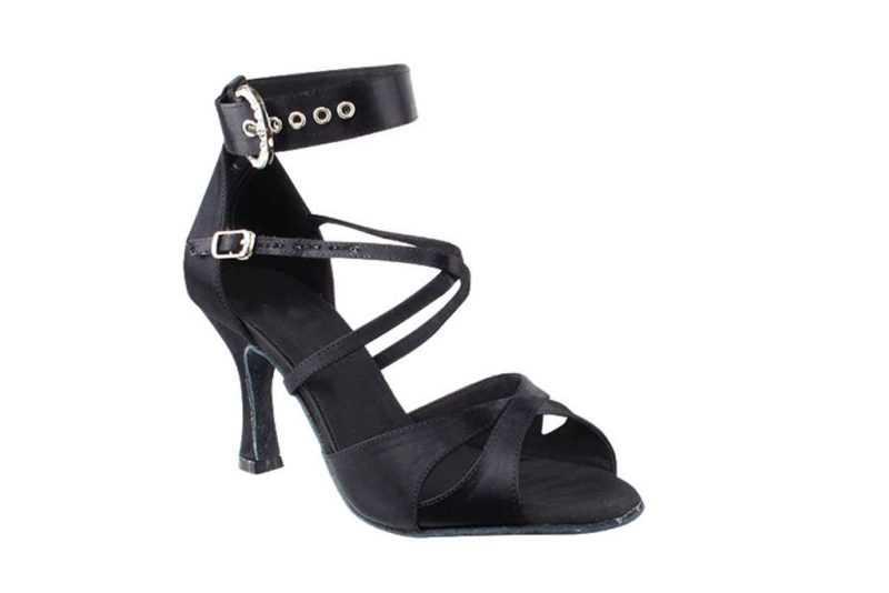Zapato de baile -DAMA SHOES - Wellington Black Satin