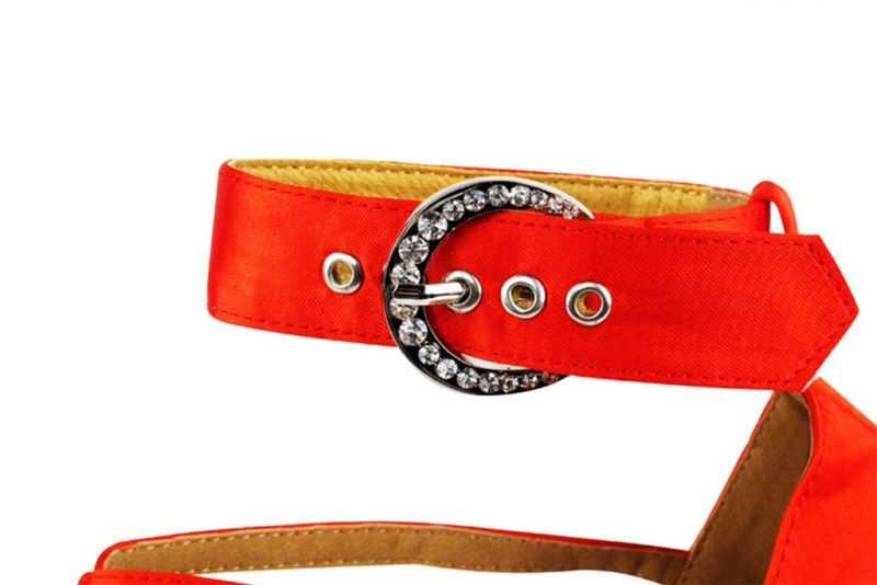 Zapato de baile -DAMA SHOES - Wellington Red Satin