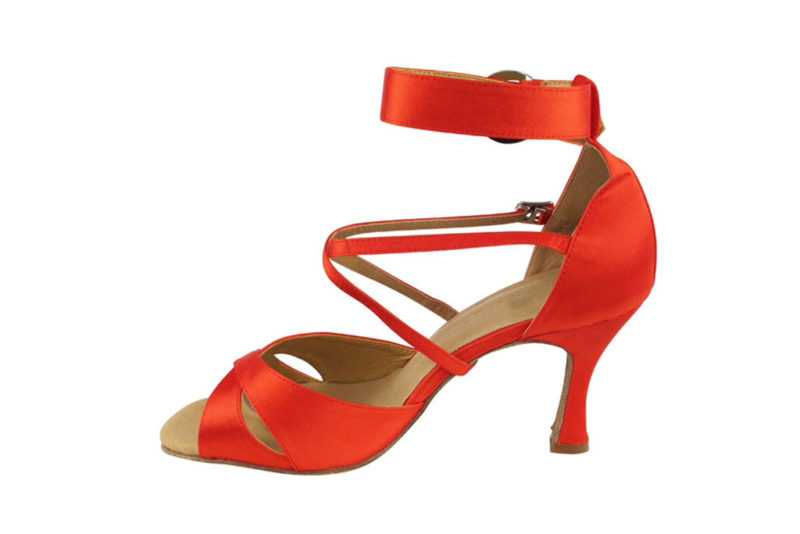 Zapato le baile - DAMA SHOES - Wellington Red Satin