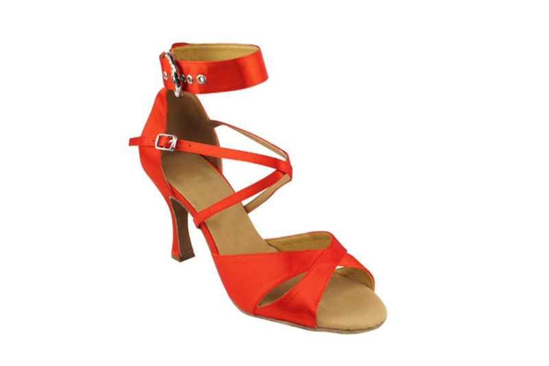 Zapato de baile - DAMA SHOES - Wellington Red Satin