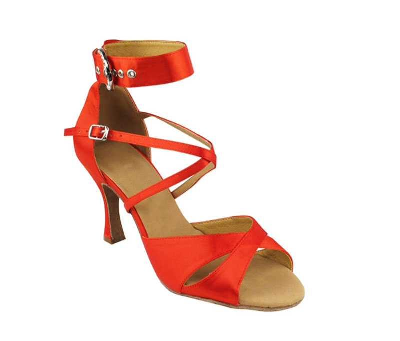 Zapato de baile - DAMA SHOES - Wellington Red Satin