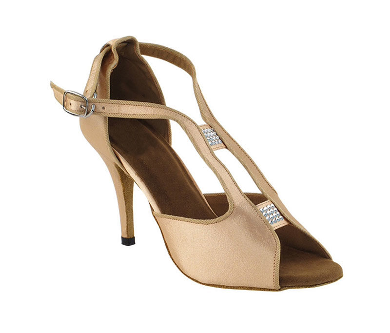 Zapato de baile - DAMA SHOES- WIillow Light Brown Satin