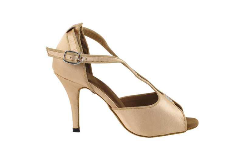 Zapato de baile - DAMA SHOES- WIillow Light Brown Satin