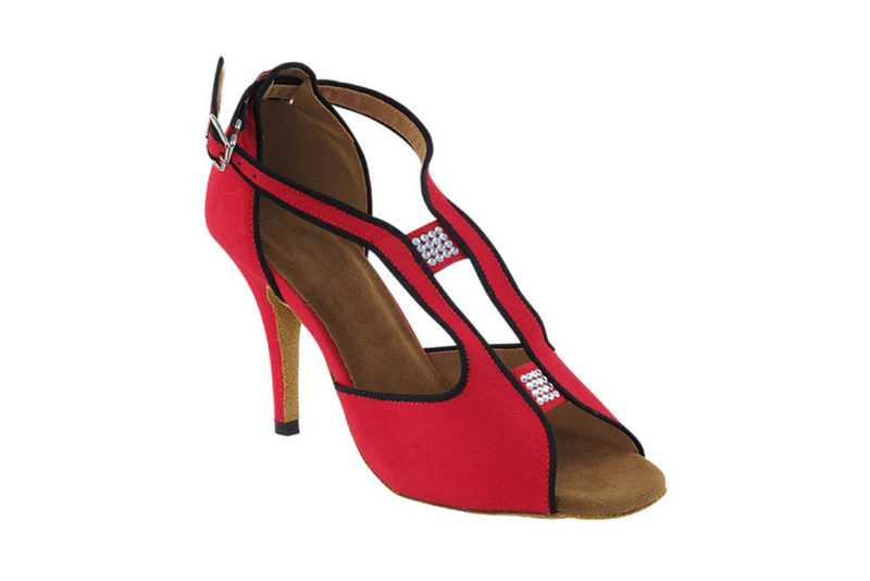 Zapato de baile- DAMA SHOES- Willow Red Velvet