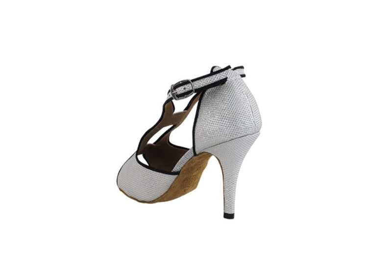Zapato de baile- DAMA SHOES- Willow White Glitter Satin