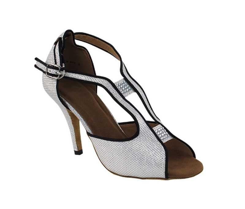 Zapato de baile- DAMA SHOES- Willow White Glitter Satin