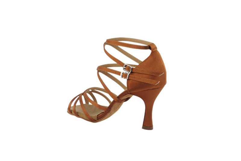 Zapato de baile -DAMA SHOES- Yael Dark Tan Satin